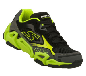 GreenBlack Skechers Air-Mazing Kid: Fierce Flex