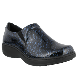 Spring Step Pro Belo Wide : Blue Bubbles Patent - Womens