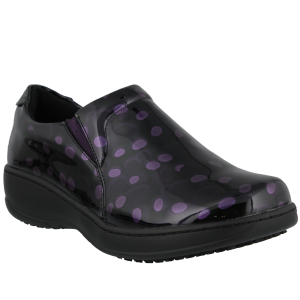 Spring Step Pro Belo Wide : Purple Polka Dot - Womens
