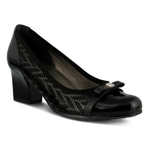 Spring Step Filomena : Black Python - Womens