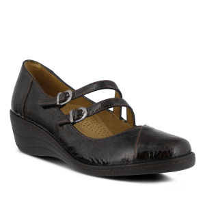 Spring Step Thorny : Brown Patent - Womens